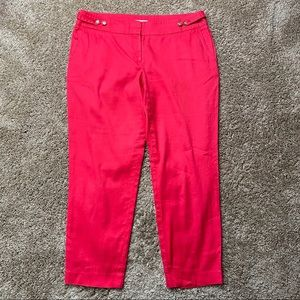 Ann Taylor Loft Marisa Linen Ankle Pants 8